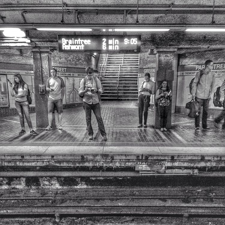 strangers train theT - underground - electrachrome | ello