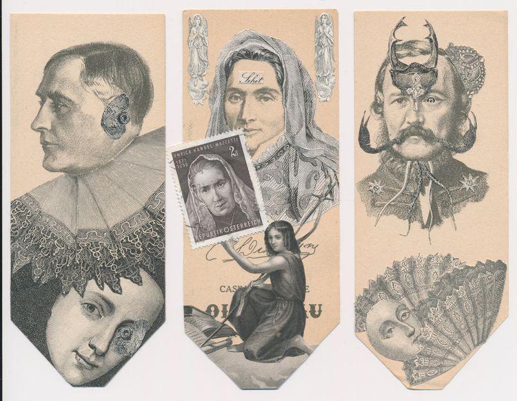 amazing set Nancy Dominique! C - papiergedanken-collage-art | ello