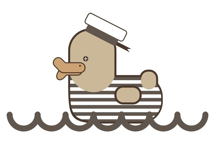 Vintage Sailor Duck, design Gra - grabatdot | ello