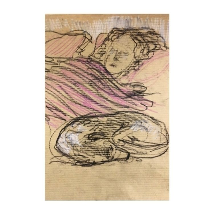 draw, sketchbook, sleeping, colour - yuliavirko   ello
