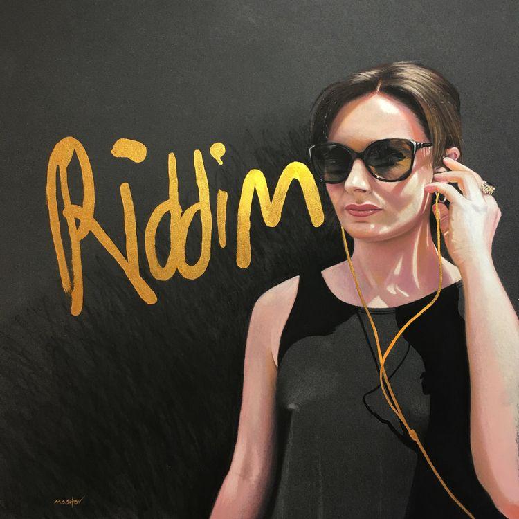 "Riddim ' 16 16"" Pastel 2018 - fineart - micheleashby | ello"