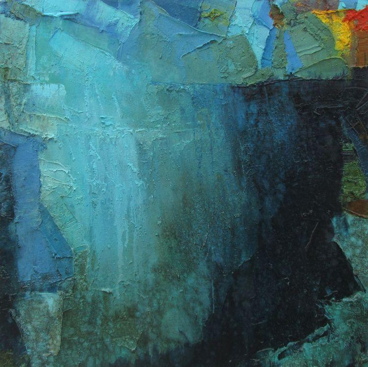 Blue Memory oil canvas | 18 - abstract - abhishekkumarartist | ello