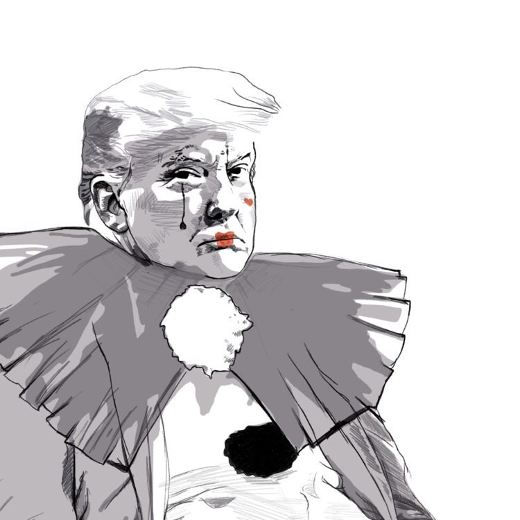Pierrot Trump - womensmarch, womensmarch2018 - rivasinge | ello