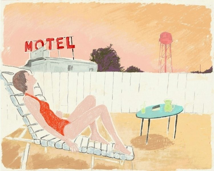 Lost summertime - illustration, drawing - zoe_vadim | ello