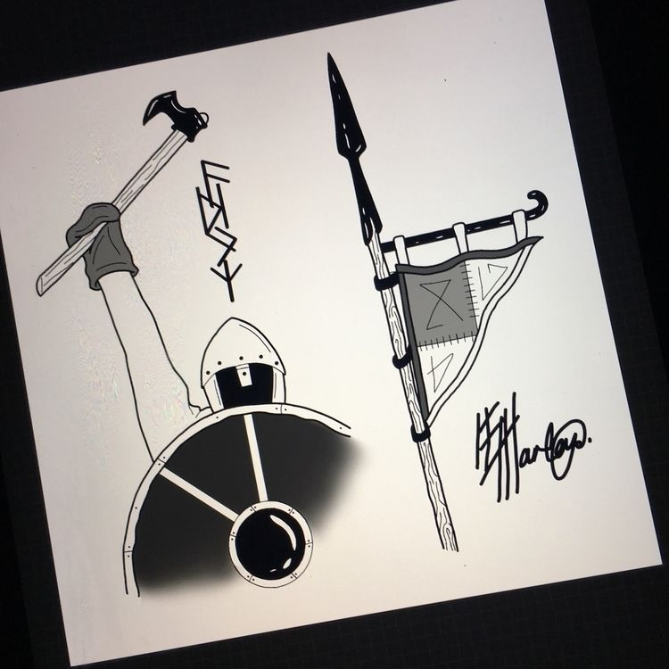 Viking designs. 🖤 - tattoo, tattoodesign - elvaharleyart | ello