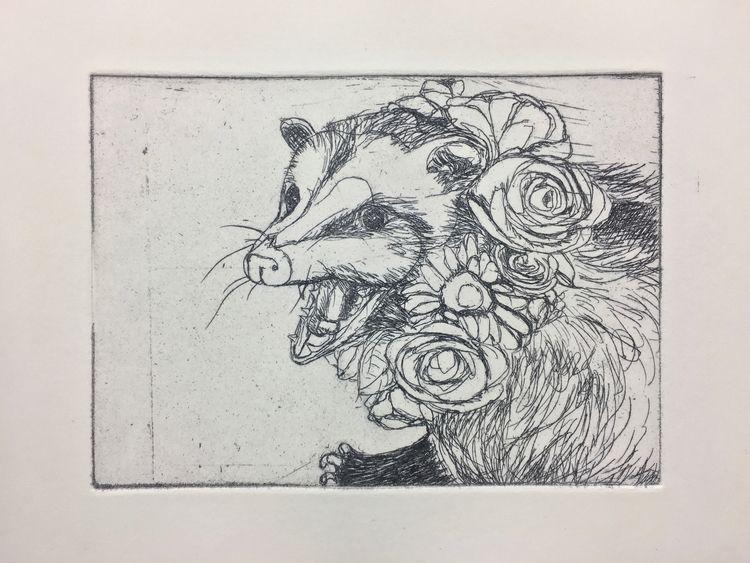 coachella possum - intaglio, print - maubad | ello