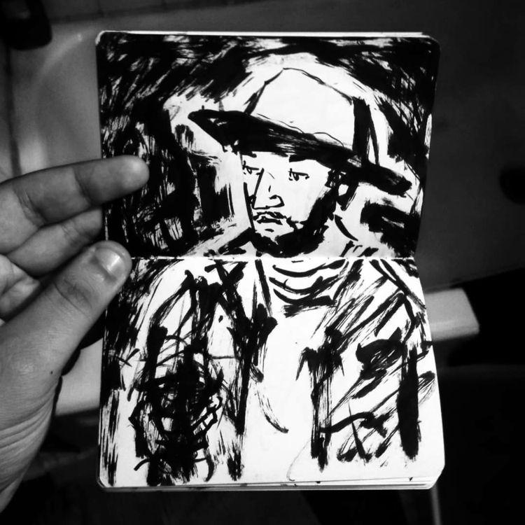 art, artist, portrait, portraits - abstractfishco | ello