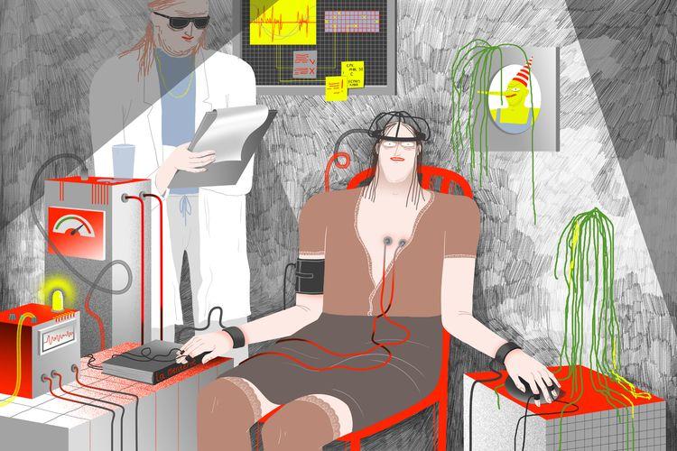polygraph illustration online R - belousova | ello