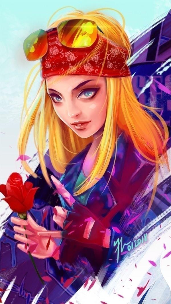 Axl Rose Fan girl Art - Digital - francismonge | ello