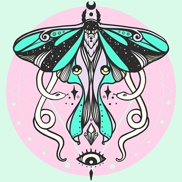 newest illustration: Luna Moth  - cellsdividing | ello