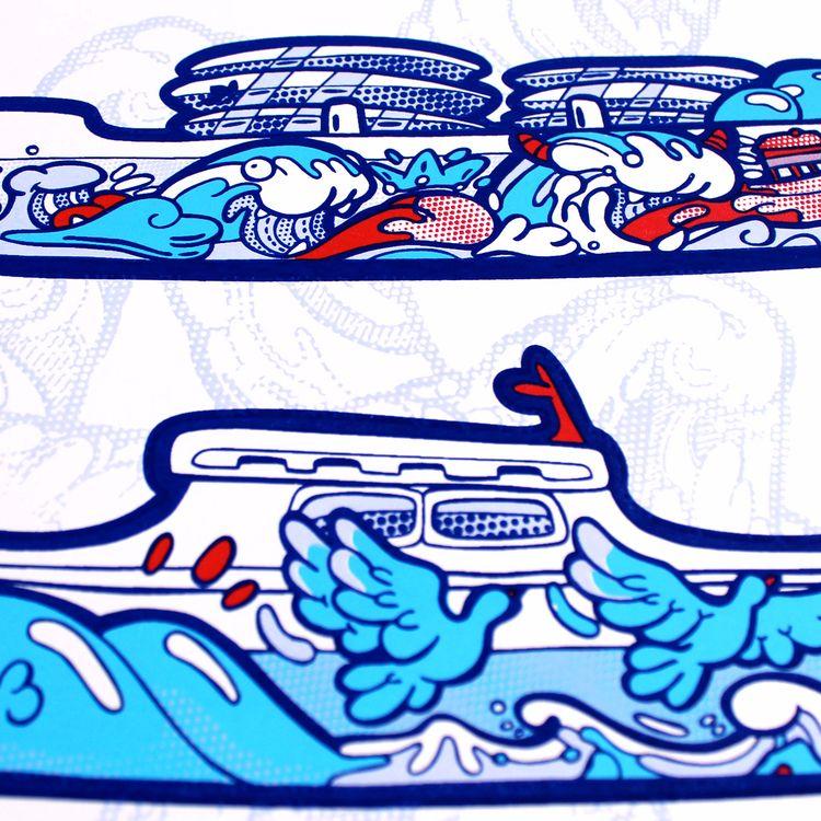 Trio Gagnant Silkscreen Blue Si - beatoa | ello