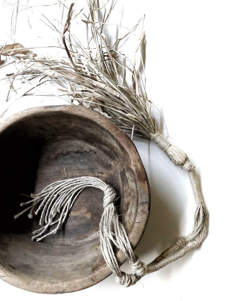 • Raffia raw linen tassel style - roundnine9 | ello