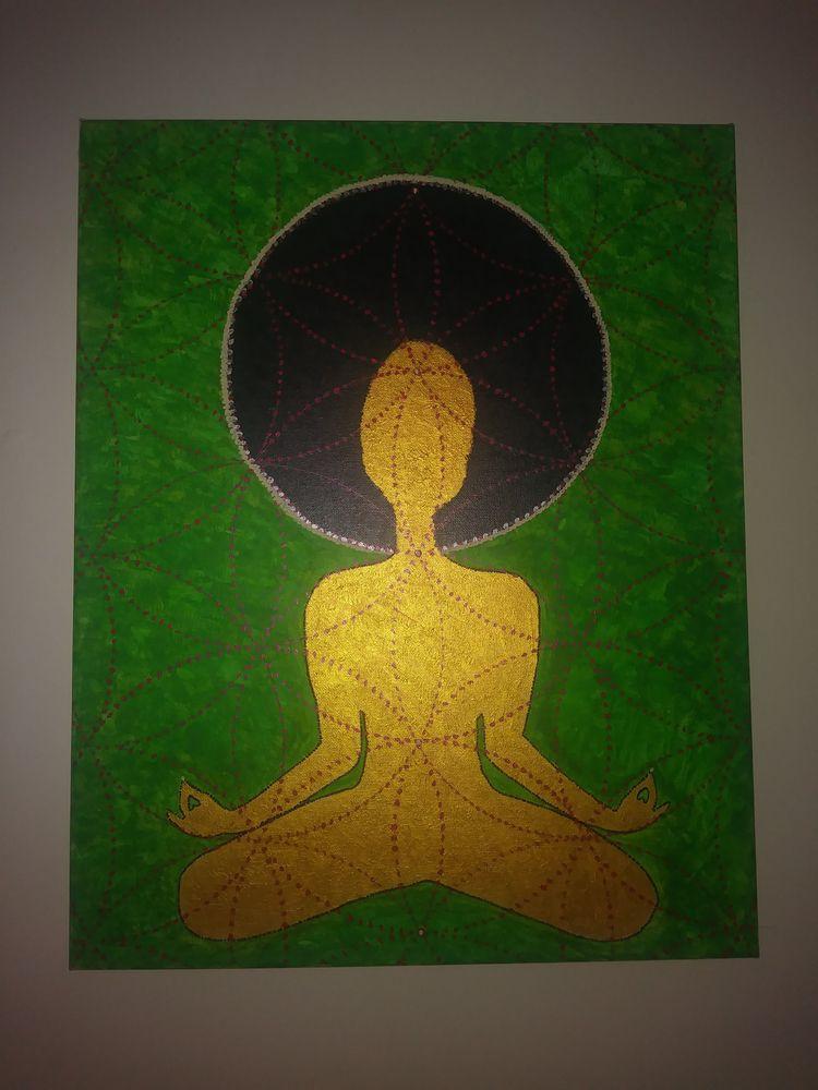 Meditate Acrylic Canvas - jaewra | ello