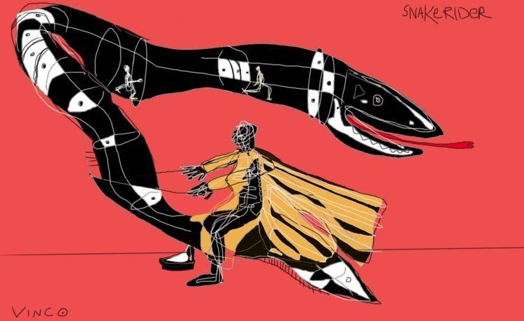 snake, rider, snakerider, vinco - vinco-zierowan | ello