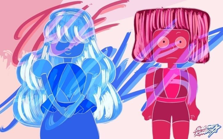 Ello, giving art Ruby Sapphire  - sylverstone14 | ello