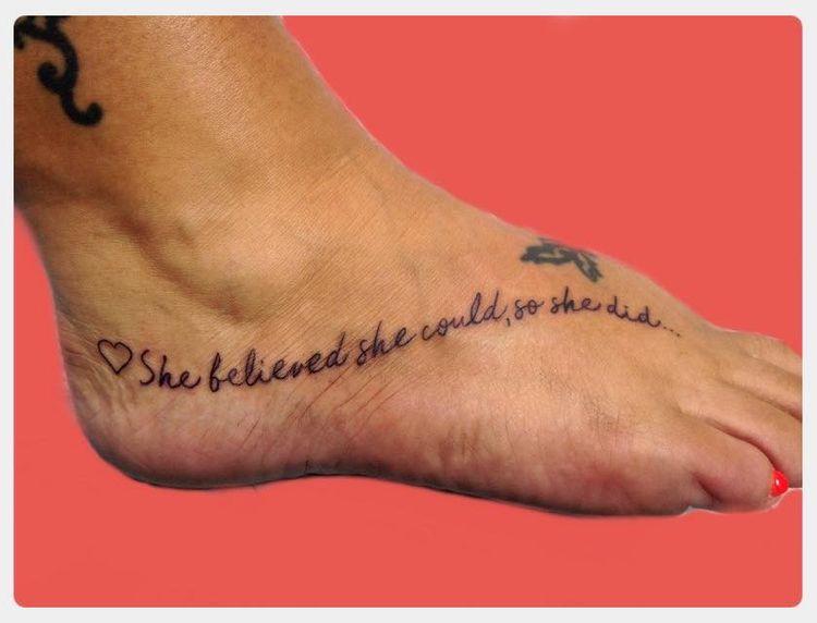Foot tattoo time! Beautiful sum - yankeedoodlezart   ello