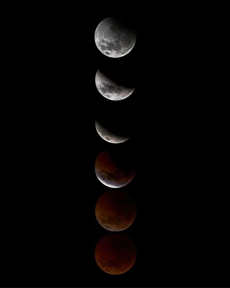 Lunar eclipse July 2018 - photography - solarfractal | ello