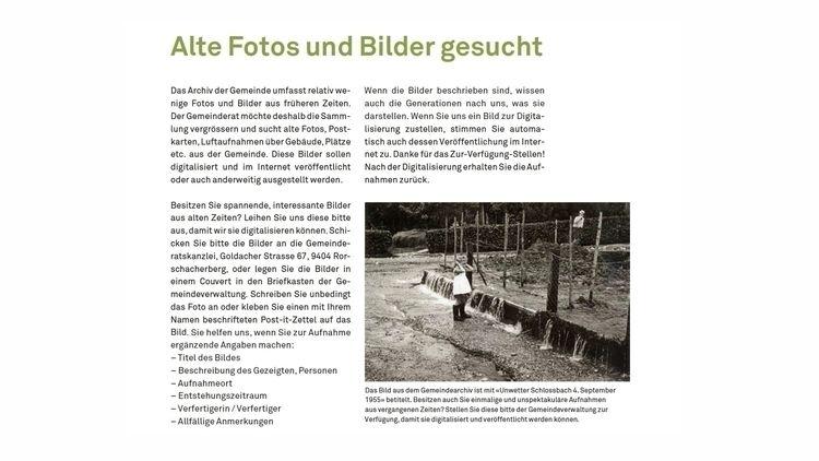Das Archiv der Gemeinde umfasst - rorschachamberg | ello