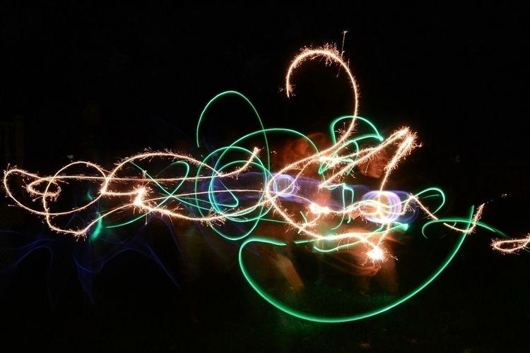 lightpainting, longexposure, slowshutter - wolvnblues | ello