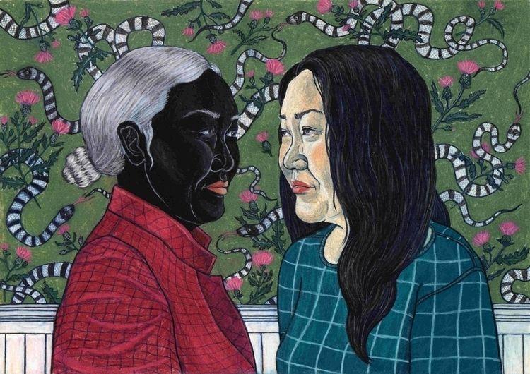Portrait Hanya Yanagihara - illustration - janna_klaevers | ello