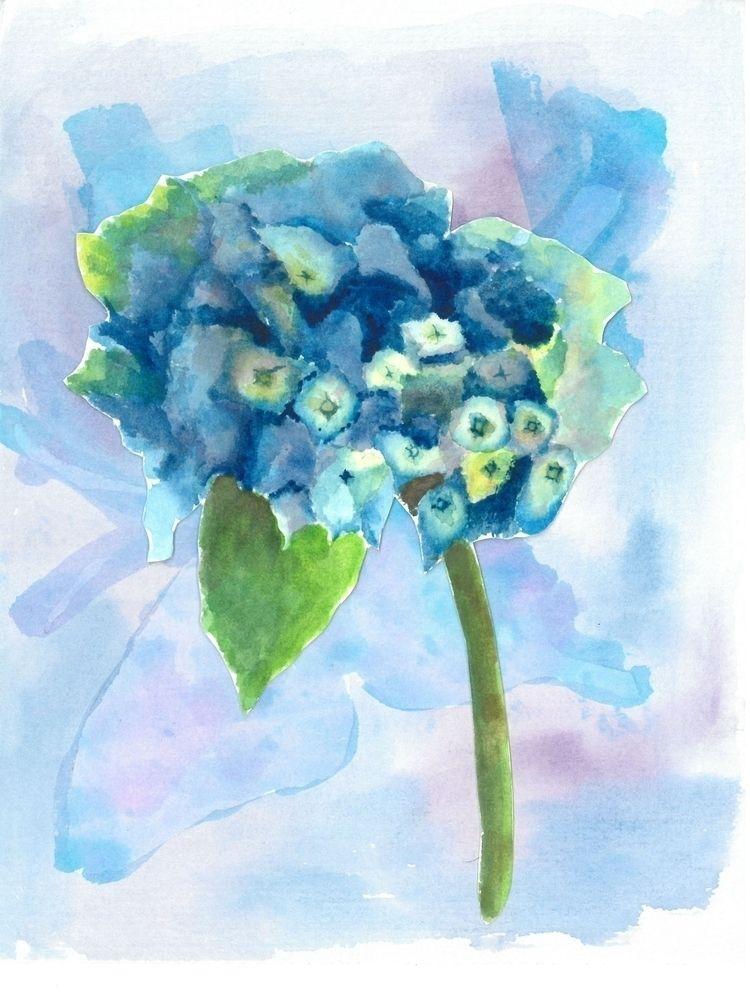 Hydrangea watercolor Hor - illustration - hor199611 | ello