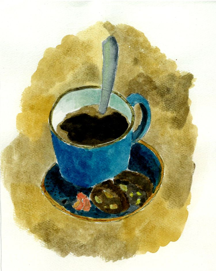 Coffee watercolor Hor - illustration - hor199611 | ello
