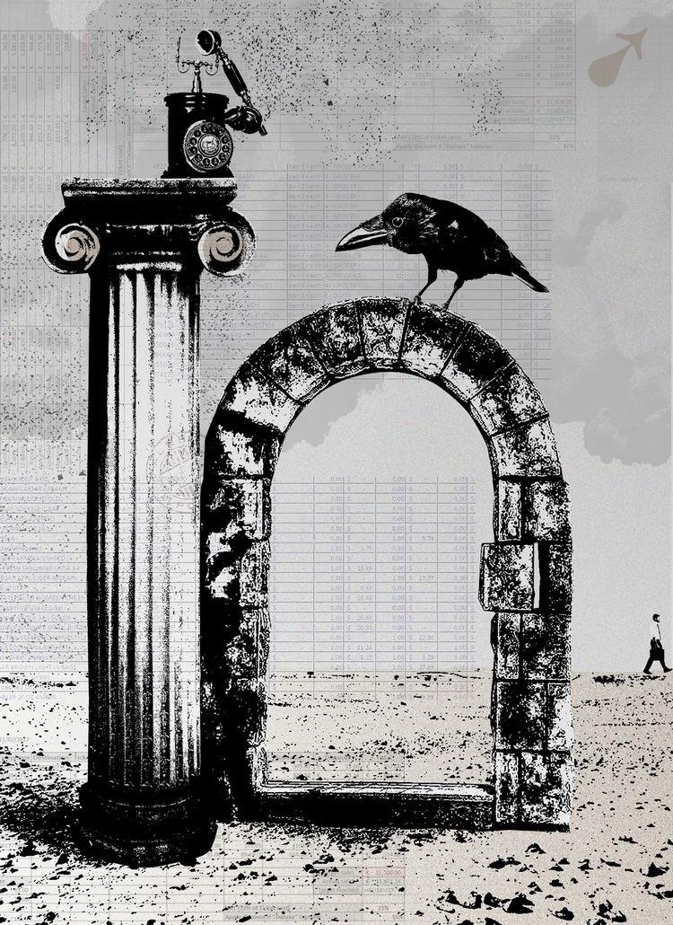 Gate - art, graphic, collage, surreal - markograf | ello