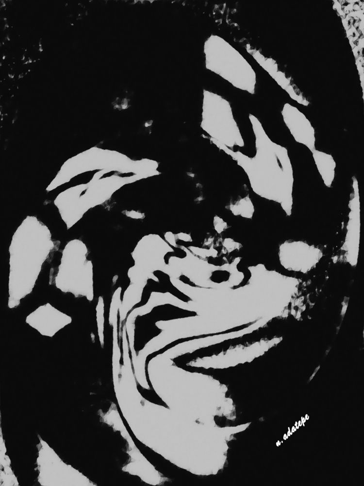 Searching mind - art, digital, blackandwhite - nadatepe | ello