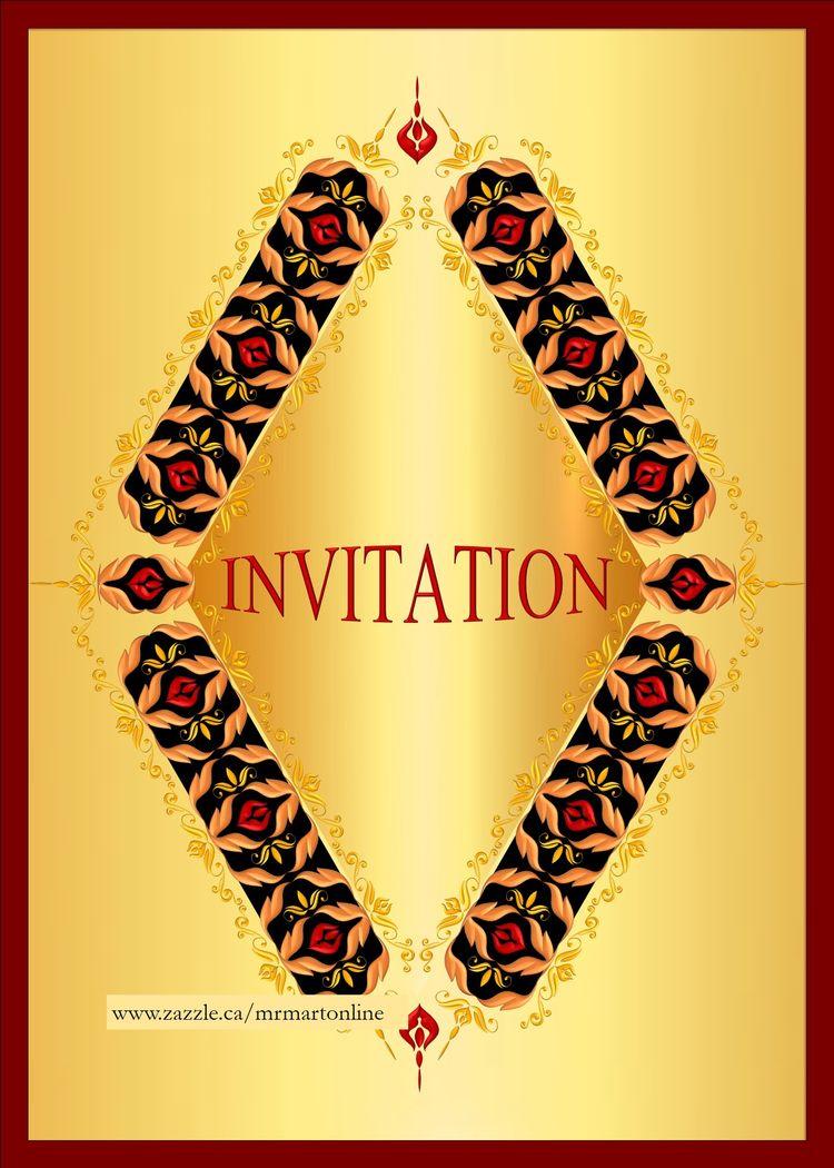 Diamond design black red gold i - mrmartonline | ello