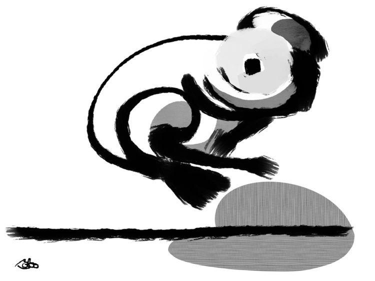 floating, frog., boboshow, bobogolememe - bobogolem_soylent-greenberg | ello