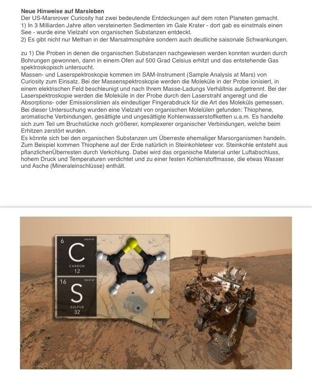 Curiosity findet neue Hinweise  - astrobederkesa | ello