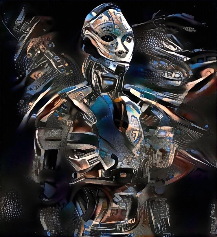 1447c7(B2C1 - art, scifi, robot - officialvictorespinoza | ello
