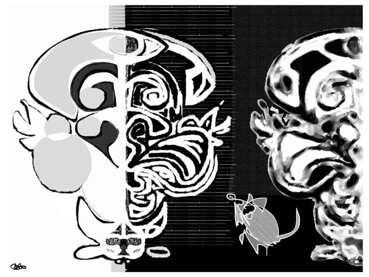 abstract, mouse, enjoys, art. - bobogolem_soylent-greenberg | ello