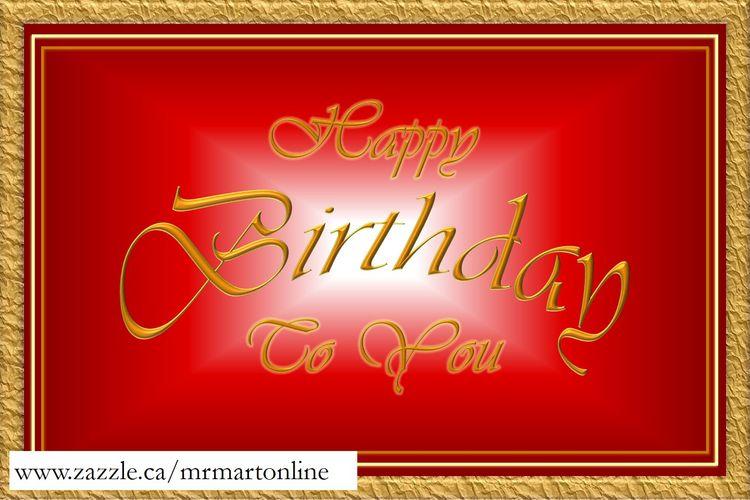 Decorative Happy Birthday card - mrmartonline   ello