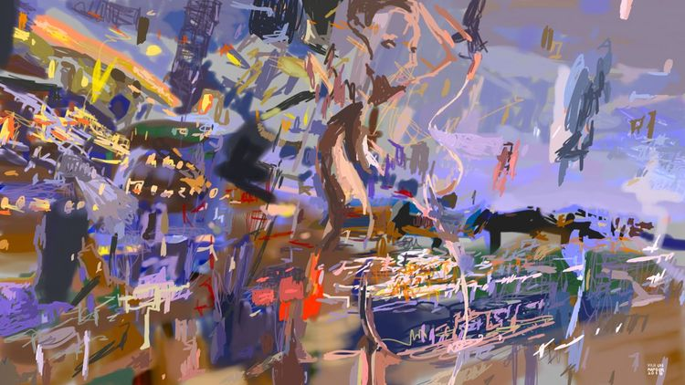 BOMBAY 1 Digital Painting - contemporary - kcontemporaryart | ello