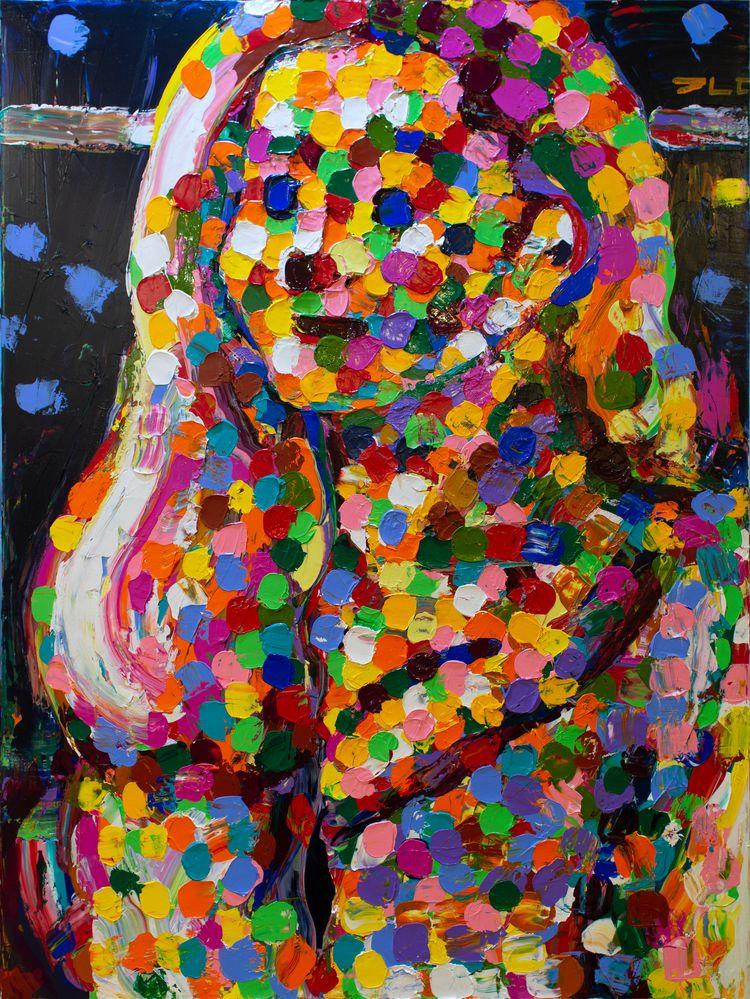 Emily Acrylic canvas, 48 36 inc - chunbumpark | ello