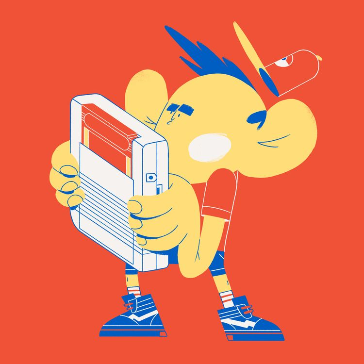 pokemon, boi, gameboy, illustration - rocamode | ello