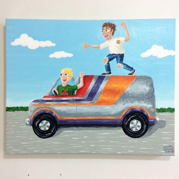 'Judd Albie van surfing' 16 20  - andewhallart | ello