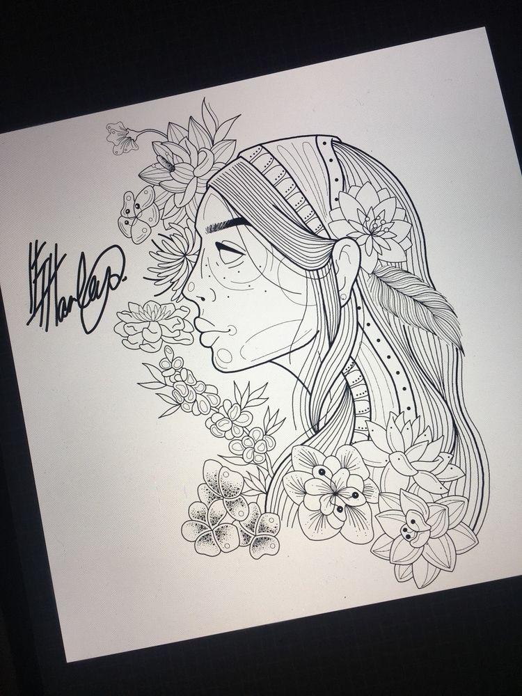 Gypsy lady design:cherry_blosso - elvaharleyart | ello