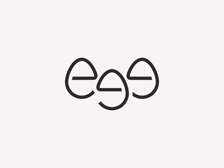 EGG 3 - logo, egg, food, black, group - fahadpgd | ello
