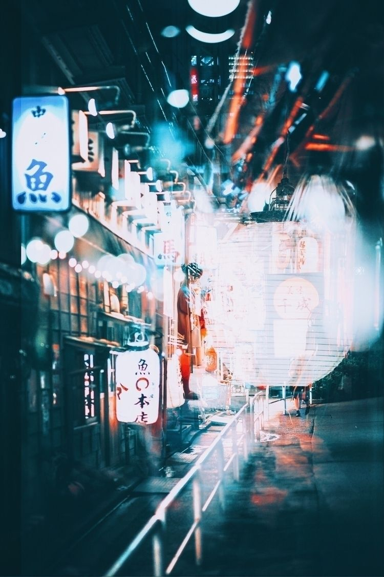 Lost Izakaya alley - Japan, doubleexposure - tristanlb | ello