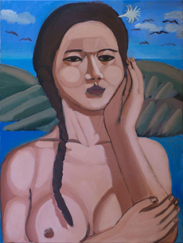 Island Girl Acrylic canvas, 40  - chunbumpark | ello