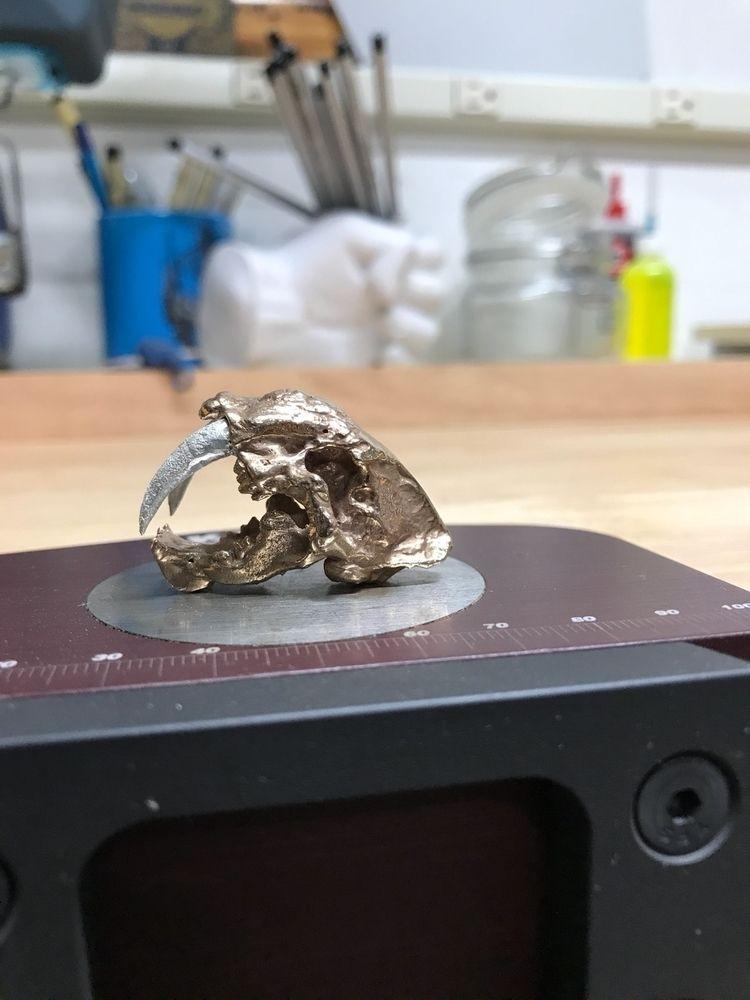 saber toothed cat cast bronze s - foureyedbuffalo | ello