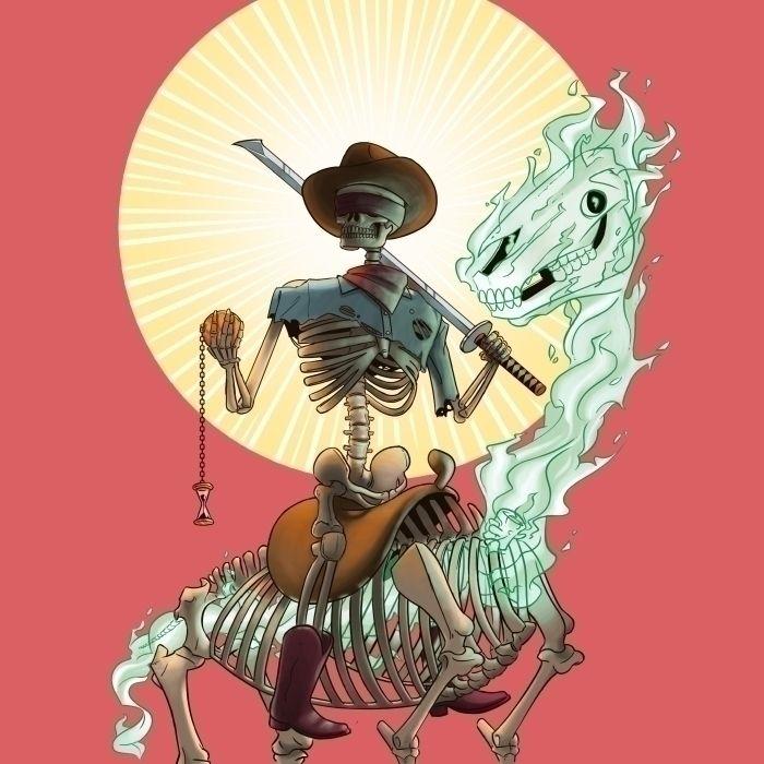 Bone Ranger - reaper, cowboy, western - kyarm | ello