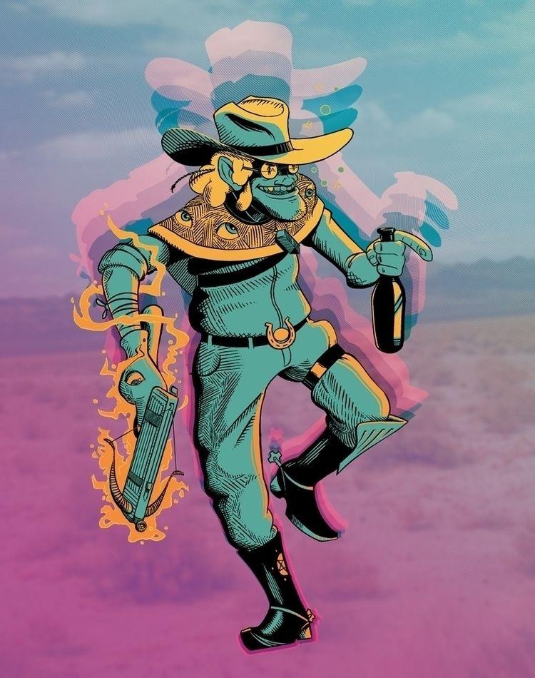 Guthrie Psychedelic Cowboy - cowboy - kyarm | ello