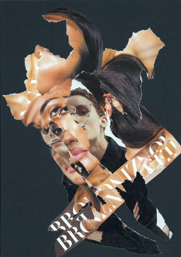Bronzing Veil - collage, dada, popart - graemejukes | ello
