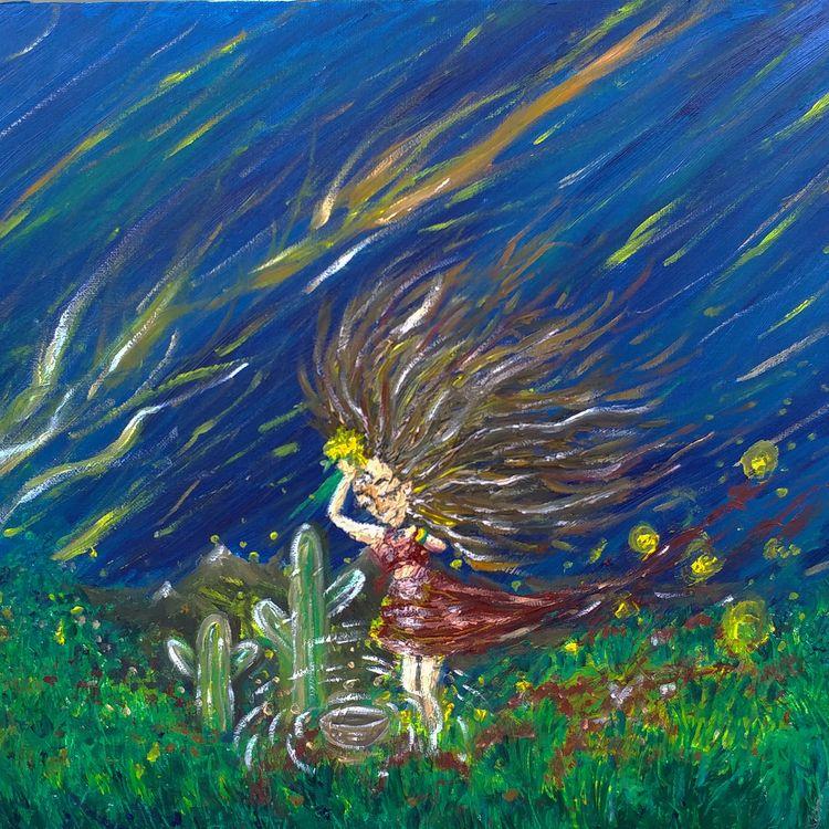 Dandyland - palletknife, oil, painting - artbydevinashleigh | ello