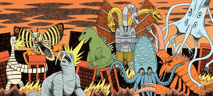 Movie Monsters- Editorial Front - jackteagle | ello