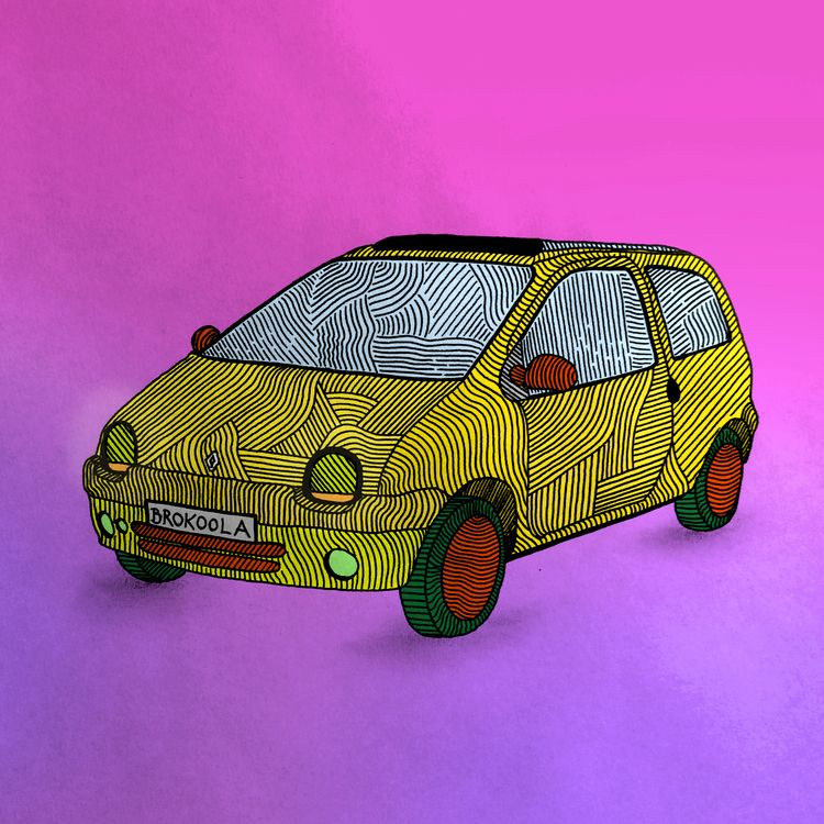 twingo, car, oldschool, illustration - brokoola | ello