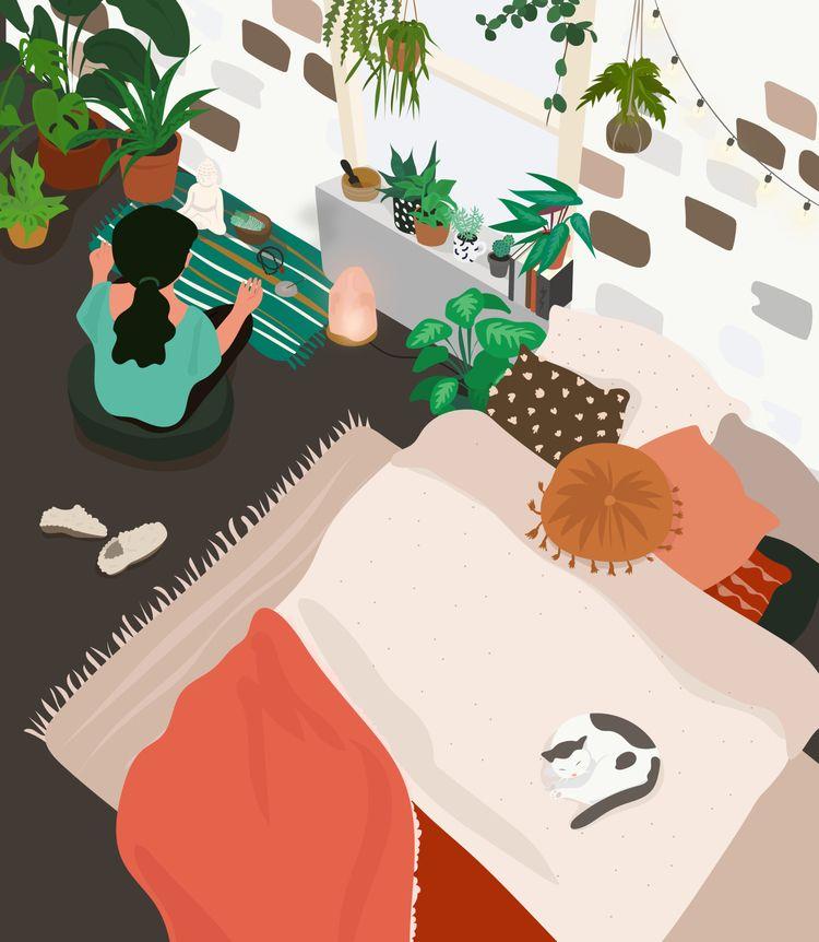 Cozy illustration featured Arti - ysonart | ello